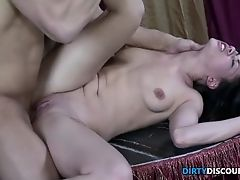 Poledancing babe caught and pussyfucked