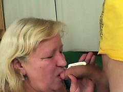 Big boobs mother-in-law pleases him