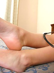 Brutal temptress lures slaves into her room by showing her blameless fragrant feet in close-up