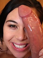 Brunette Cody Lane Sucks Dick In POV
