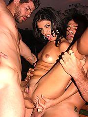 Interracial Latina DP Threesome