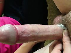 Girl gives my big dick a sloppy blowjob