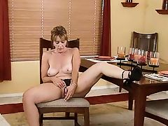 Mature Slut Toying At The Table... IT4REBORN