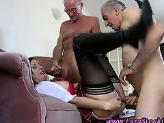 Stockinged mature amateur horny brit