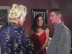 Slut getting fucked by the swingers couple