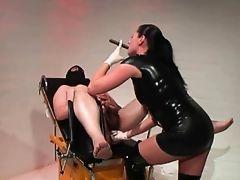 Brittish Dom Fucks Her Slave