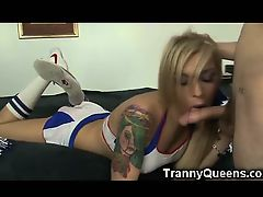 Tranny Teen Cheerleader!
