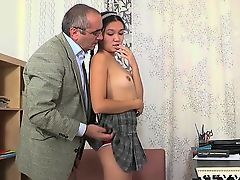 Lusty doggy style drilling