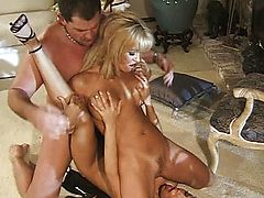 Cumshot dripping from ass to mouth