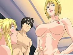 Blonde hentai shemale fucking girls rough