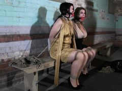 The creepy couple hire a bondage model