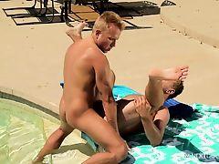 NextDoorBuddies Outdoor FUCK By The Pool