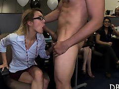 These gals go crazy when cock is in their face