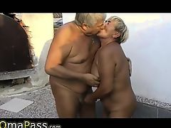 OMAPASS senior threesome fuck