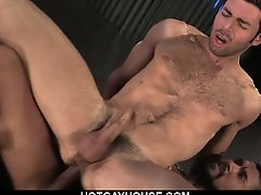 Hairy Bear Josh Takes It Anal